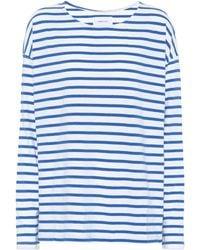 Current/Elliott - Striped Cotton T-shirt - Lyst