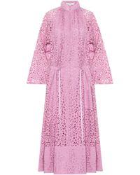 Tibi - Lace Midi Dress - Lyst