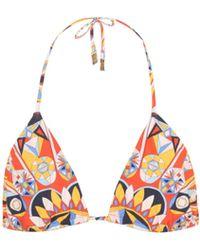 Tory Burch - Haut de bikini triangle imprimé Kaleidoscope String - Lyst