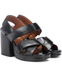 KENZO - Aori Leather Sandals - Lyst