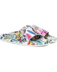 Vetements - Printed Leather Slides - Lyst