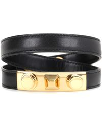 Saint Laurent - Studded Leather Bracelet - Lyst