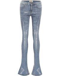 Roberto Cavalli - High-Rise Skinny Jeans mit Schlag - Lyst
