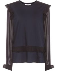 Dorothee Schumacher - Feminine Finesse Cotton And Silk Top - Lyst