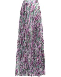 Max Mara - Floral-printed Pleated Skirt - Lyst