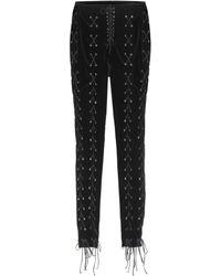 Unravel - Lace-up Velvet Trousers - Lyst