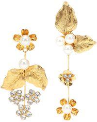Jennifer Behr - Asymmetric Floral Earrings - Lyst