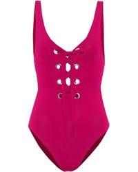 Mara Hoffman - Desa Lace-up Swimsuit - Lyst
