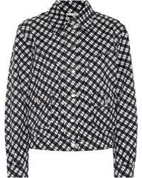 ALEXACHUNG - Veste en jean denim à carreaux - Lyst