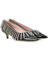 Christopher Kane - Crystal Fringe Patent Leather Court Shoes - Lyst