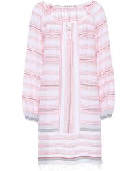 lemlem - Tereza Striped Cotton-blend Dress - Lyst