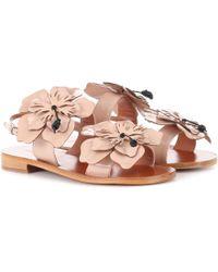 Miu Miu - Patent Leather Sandals - Lyst