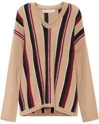 Marni - Striped Wool Sweater - Lyst