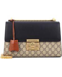 5531d11ea Gucci Trapuntata Quilted Floral Shoulder Bag in Pink - Lyst