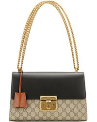 Gucci - Padlock Gg Supreme Medium Leather And Coated Canvas Shoulder Bag -  Lyst 1b2cbc0bfbf31