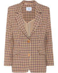 Nanushka - Jerome Checked Wool Blazer - Lyst