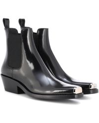 8dce95dc80af Lyst - CALVIN KLEIN 205W39NYC Cal Calveta Leather Ankle Boots in Black