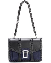 Proenza Schouler | Hava Chain Leather And Suede Shoulder Bag | Lyst