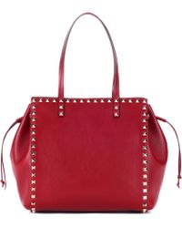 Valentino - Rockstud Leather Shopper - Lyst