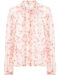 Giambattista Valli - Printed Silk Blouse - Lyst
