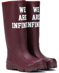 Undercover - Printed Rubber Boots - Lyst