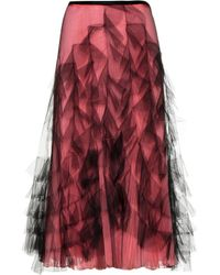 Valentino - Tulle And Silk Skirt - Lyst