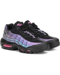 e268c19ac4 Nike Air Max 95 Sneakers With Patent Leather in Black - Lyst