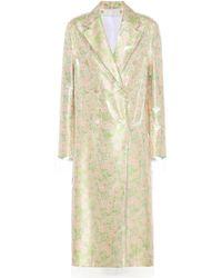 CALVIN KLEIN 205W39NYC - Layered Silk-blend Coat - Lyst