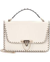 Valentino - Garavani Small Demilune Leather Shoulder Bag - Lyst