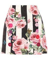 Dolce & Gabbana - Jacquard Skirt - Lyst