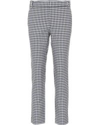 Tibi - Beatle Gingham Cropped Pants - Lyst