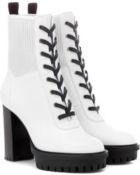 Gianvito Rossi - Martis 70 Leather Ankle Boots - Lyst