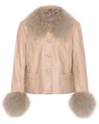 Saks Potts | Shearling-trimmed Leather Jacket | Lyst