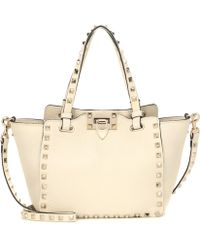 Valentino - Rockstud Mini Leather Tote - Lyst