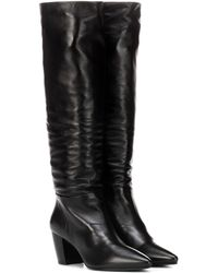 Prada - Leather Boots - Lyst