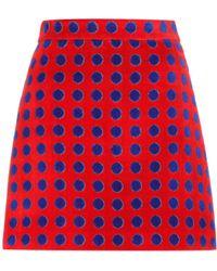 Miu Miu - Exclusive To Mytheresa. Com – Polka-dotted Cotton Terrycloth Skirt - Lyst