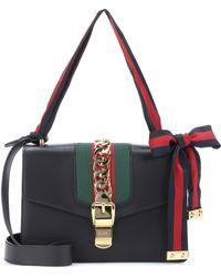 0dbdf4280c9fe2 Gucci Sylvie Medium Shoulder Bag in White - Lyst