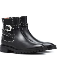 Givenchy - Embellished Leather Boots - Lyst
