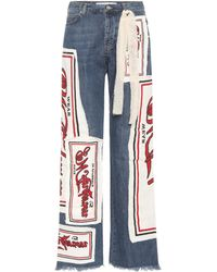 J.W. Anderson | Printed High-waisted Jeans | Lyst