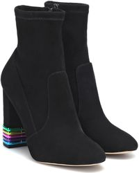 Sophia Webster - Ankle Boots Felicity aus Veloursleder - Lyst