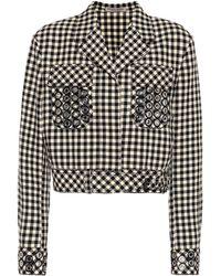 Bottega Veneta - Checked Cotton And Wool Blazer - Lyst