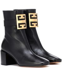 Givenchy - 4g Leather Ankle Boots - Lyst