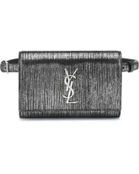f2b20e6e457c Saint Laurent - Kate Metallic Suede Belt Bag - Lyst