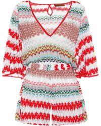Missoni - Striped Crochet Jumpsuit - Lyst