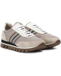 Brunello Cucinelli - Sneakers aus Veloursleder - Lyst