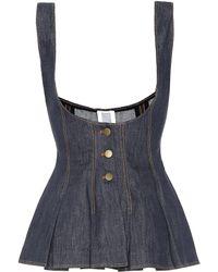 Rosie Assoulin - Cotton And Linen Denim Top - Lyst