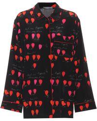 Alexander McQueen - Printed Silk Shirt - Lyst