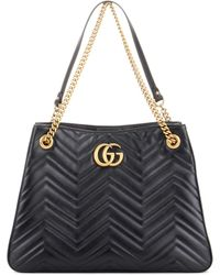 Gucci | Gg Marmont Leather Shoulder Bag | Lyst