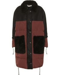 Marni - Shearling-trimmed Coat - Lyst