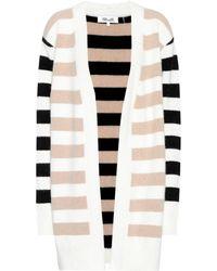 Diane von Furstenberg - Striped Angora-blend Cardigan - Lyst